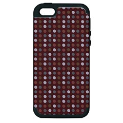 Grey Pink Lilac Brown Eggs On Brown Apple Iphone 5 Hardshell Case (pc+silicone)