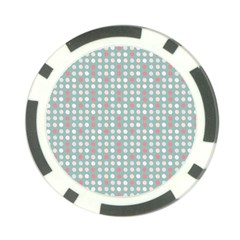 Pink Peach Grey Eggs On Teal Poker Chip Card Guard