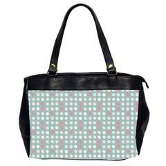 Pink Peach Grey Eggs On Teal Office Handbags (2 Sides)