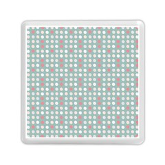 Pink Peach Grey Eggs On Teal Memory Card Reader (square)