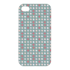 Pink Peach Grey Eggs On Teal Apple Iphone 4/4s Hardshell Case
