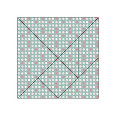 Pink Peach Grey Eggs On Teal Acrylic Tangram Puzzle (4  X 4 )