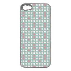 Pink Peach Grey Eggs On Teal Apple Iphone 5 Case (silver)