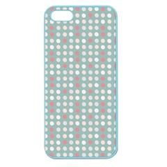 Pink Peach Grey Eggs On Teal Apple Seamless Iphone 5 Case (color)