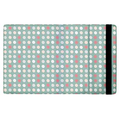 Pink Peach Grey Eggs On Teal Apple Ipad 2 Flip Case