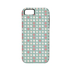 Pink Peach Grey Eggs On Teal Apple Iphone 5 Classic Hardshell Case (pc+silicone)