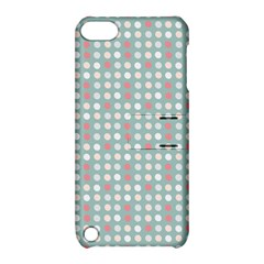 Pink Peach Grey Eggs On Teal Apple Ipod Touch 5 Hardshell Case With Stand