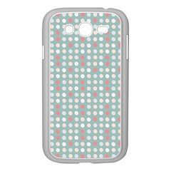 Pink Peach Grey Eggs On Teal Samsung Galaxy Grand Duos I9082 Case (white)