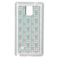 Pink Peach Grey Eggs On Teal Samsung Galaxy Note 4 Case (white)