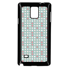 Pink Peach Grey Eggs On Teal Samsung Galaxy Note 4 Case (black)