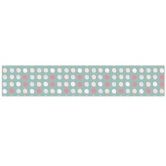 Pink Peach Grey Eggs On Teal Large Flano Scarf
