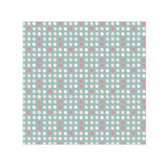 Pink Peach Grey Eggs On Teal Small Satin Scarf (square)