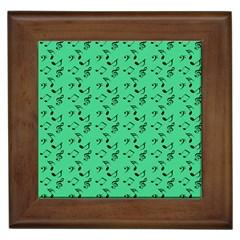 Green Music Framed Tiles