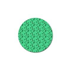 Green Music Golf Ball Marker (10 Pack)