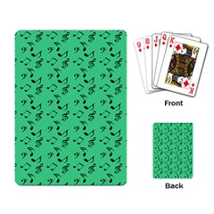 Green Music Playing Card