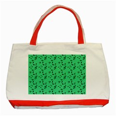 Green Music Classic Tote Bag (red)
