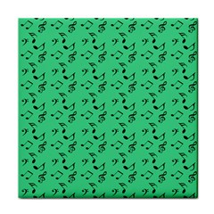 Green Music Face Towel