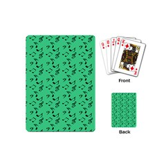 Green Music Playing Cards (mini)