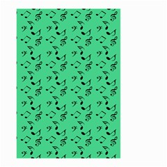 Green Music Small Garden Flag (two Sides)
