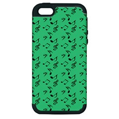 Green Music Apple Iphone 5 Hardshell Case (pc+silicone)