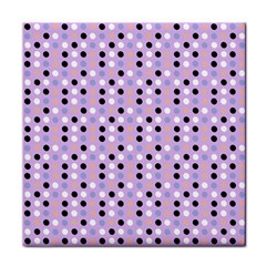 Black White Pink Blue Eggs On Violet Tile Coasters