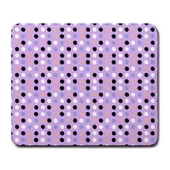 Black White Pink Blue Eggs On Violet Large Mousepads