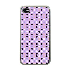 Black White Pink Blue Eggs On Violet Apple Iphone 4 Case (clear)