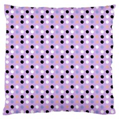 Black White Pink Blue Eggs On Violet Large Cushion Case (two Sides)