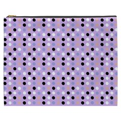 Black White Pink Blue Eggs On Violet Cosmetic Bag (xxxl)