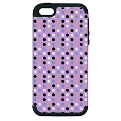 Black White Pink Blue Eggs On Violet Apple Iphone 5 Hardshell Case (pc+silicone)