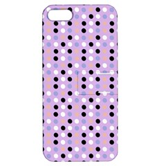 Black White Pink Blue Eggs On Violet Apple Iphone 5 Hardshell Case With Stand