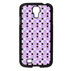 Black White Pink Blue Eggs On Violet Samsung Galaxy S4 I9500/ I9505 Case (black)