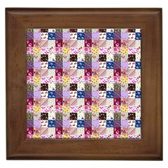 Quilt Of My Patterns Small Framed Tiles