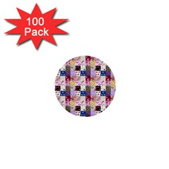Quilt Of My Patterns Small 1  Mini Buttons (100 Pack)
