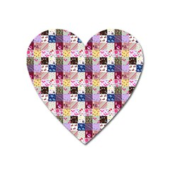 Quilt Of My Patterns Small Heart Magnet