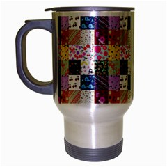 Quilt Of My Patterns Small Travel Mug (silver Gray)
