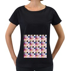Quilt Of My Patterns Small Women s Loose Fit T Shirt (black)