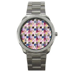 Quilt Of My Patterns Small Sport Metal Watch