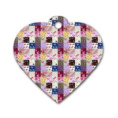 Quilt Of My Patterns Small Dog Tag Heart (two Sides)