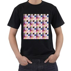 Quilt Of My Patterns Small Men s T Shirt (black)