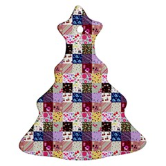 Quilt Of My Patterns Small Ornament (christmas Tree)