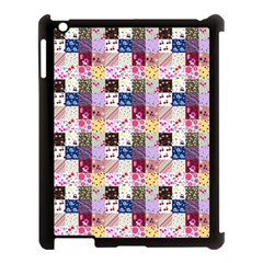 Quilt Of My Patterns Small Apple Ipad 3/4 Case (black)