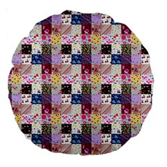 Quilt Of My Patterns Small Large 18  Premium Round Cushions