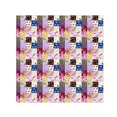 Quilt Of My Patterns Small Small Satin Scarf (square)