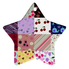 Quilt Of My Patterns Ornament (star)