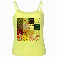 Quilt Of My Patterns Yellow Spaghetti Tank