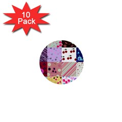 Quilt Of My Patterns 1  Mini Buttons (10 Pack)