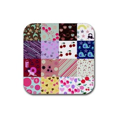 Quilt Of My Patterns Rubber Square Coaster (4 Pack)