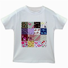 Quilt Of My Patterns Kids White T Shirts