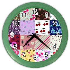Quilt Of My Patterns Color Wall Clocks